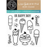 Hero Arts - Lia Griffith Collection - Clear Acrylic Stamps - Oh Happy Day