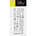 Hero Arts - Kelly Purkey Collection - Clear Acrylic Stamps - Adventure Planner