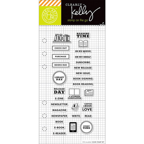 Hero Arts - Kelly Purkey Collection - Clear Photopolymer Stamps - Reading Planner