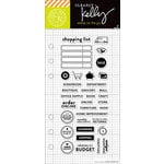 Hero Arts - Kelly Purkey Collection - Clear Acrylic Stamps - Shopping Planner