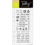 Hero Arts - Kelly Purkey Collection - Clear Acrylic Stamps - Fitness Planner