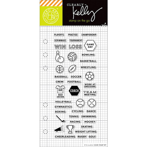 Hero Arts - Kelly Purkey Collection - Clear Photopolymer Stamps - Sports Planner