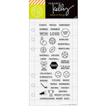 Hero Arts - Kelly Purkey Collection - Clear Acrylic Stamps - Sports Planner