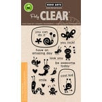Hero Arts - Critters Collection - Clear Acrylic Stamps - Lunch Box Notes