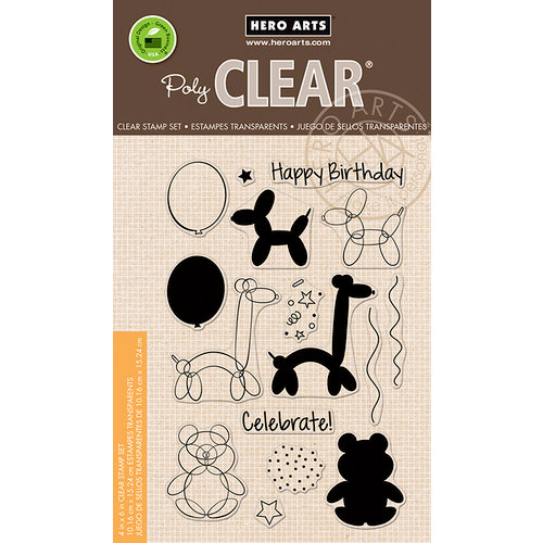 Hero Arts - Birthday Collection - Clear Photopolymer Stamps - Balloon Animal Birthday