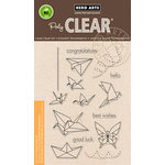 Hero Arts - Trend Collection - Clear Acrylic Stamps - Origami Animals