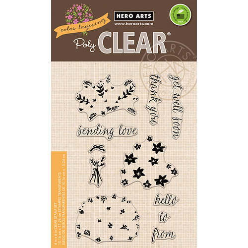 Hero Arts - Color Layering Collection - Clear Photopolymer Stamps - Bouquet