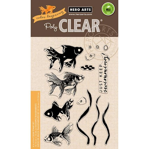 Hero Arts - Color Layering Collection - Clear Photopolymer Stamps - Goldfish