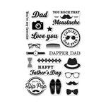 Hero Arts - Trend Collection - Clear Acrylic Stamps - Dapper Dad