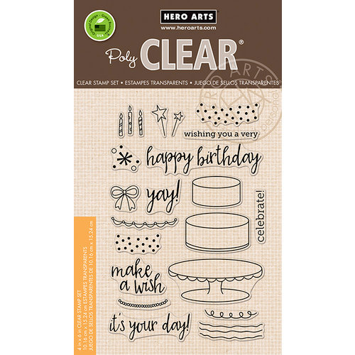 Hero Arts - Birthday Collection - Clear Photopolymer Stamps - Birthday Cake Layering