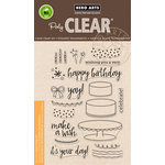 Hero Arts - Birthday Collection - Clear Acrylic Stamps - Birthday Cake Layering