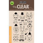 Hero Arts - Trend Collection - Clear Acrylic Stamps - Hipster Animals