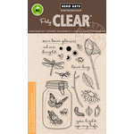 Hero Arts - Critters Collection - Clear Acrylic Stamps - Mason Jar Bugs