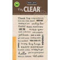Hero Arts - Everyday Collection - Clear Photopolymer Stamps - Many Everyday Messages