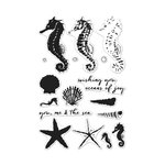 Hero Arts - Tropical Collection - Clear Acrylic Stamps - Color Layering - Seahorse