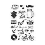Hero Arts - Trend Collection - Clear Acrylic Stamps - Hipster At Heart