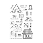 Hero Arts - Adventure Collection - Clear Photopolymer Stamps - The Adventure Begins