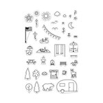 Hero Arts - Adventure Collection - Clear Acrylic Stamps - Park Essentials