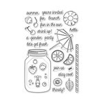 Hero Arts - Summer Fun Collection - Clear Acrylic Stamps - Let's Get Fresh