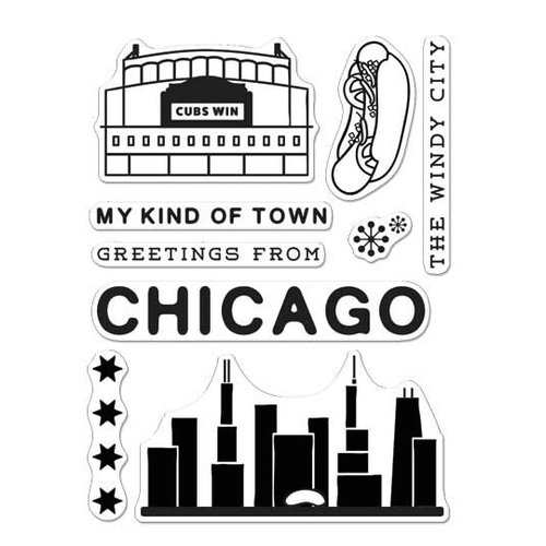 Hero Arts - Destination Collection - Destination - Clear Photopolymer Stamps - Chicago