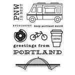 Hero Arts - Destination Collection - Destination - Clear Acrylic Stamps - Portland