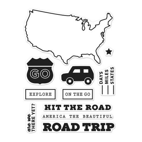 Hero Arts - Destination Collection - Destination - Clear Photopolymer Stamps - Road Trip