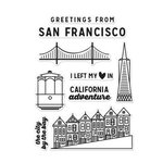 Hero Arts - Destination Collection - Destination - Clear Acrylic Stamps - San Francisco