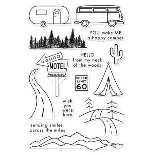 Hero Arts - Adventure Collection - Clear Photopolymer Stamps - Road Trip