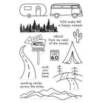 Hero Arts - Adventure Collection - Clear Acrylic Stamps - Road Trip