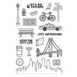 Hero Arts - Adventure Collection - Clear Acrylic Stamps - City Adventure