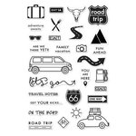 Hero Arts - Adventure Collection - Clear Photopolymer Stamps - On The Road