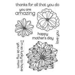 Hero Arts - Everyday Collection - Clear Acrylic Stamps - Happy Mother's Day