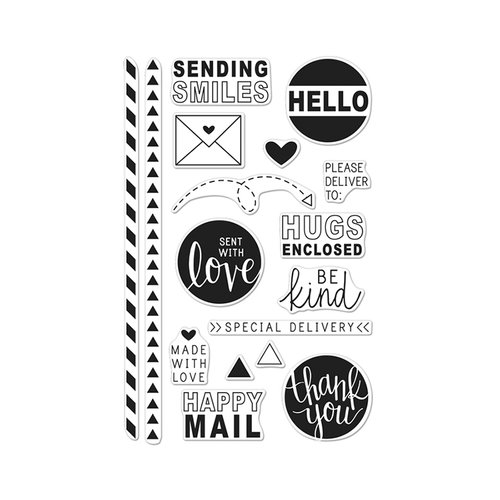 Hero Arts - Clear Photopolymer Stamps - Happy Mail
