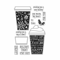 Hero Arts - Christmas - Clear Photopolymer Stamps - Coffee Cup Tags