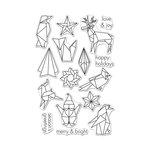 Hero Arts - Christmas - Clear Acrylic Stamps - Origami Happy Holidays