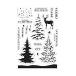 Hero Arts - Christmas - Clear Acrylic Stamps - Color Layering Snowy Tree