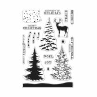 Hero Arts - Christmas - Clear Photopolymer Stamps - Color Layering Snowy Tree