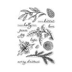 Hero Arts - Christmas - Clear Photopolymer Stamps - Happy Holly Days