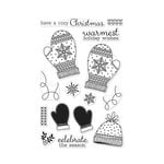 Hero Arts - Christmas - Clear Acrylic Stamps - Holiday Mittens
