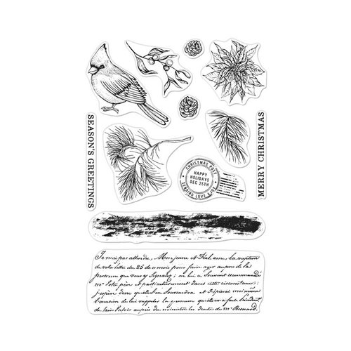 Hero Arts - Clear Photopolymer Stamps - Vintage Christmas Post