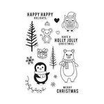 Hero Arts - Christmas - Clear Acrylic Stamps - Holiday Animals