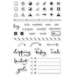 Hero Arts - Clear Acrylic Stamps - Planners and Journals