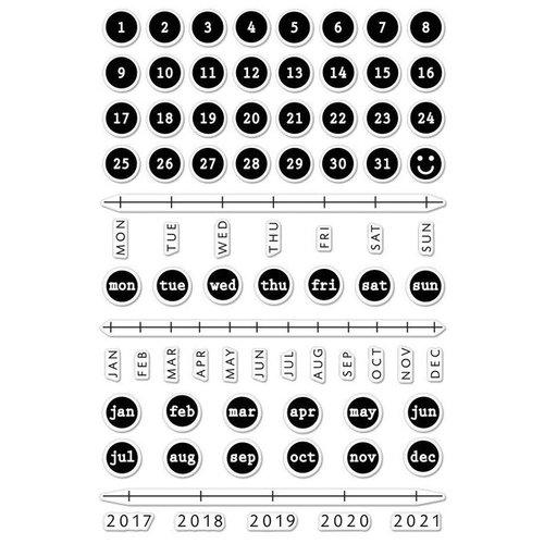 Hero Arts - Clear Photopolymer Stamps - Typewriter Keys Journaling
