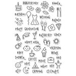 Hero Arts - Clear Photopolymer Stamps - Events and Everyday Planner Icons