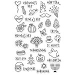 Hero Arts - Clear Acrylic Stamps - Holiday Planner Icons