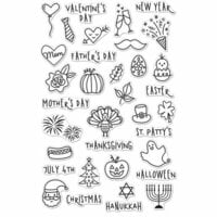 Hero Arts - Clear Photopolymer Stamps - Holiday Planner Icons