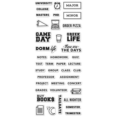 Hero Arts - Kelly Purkey Collection - Clear Photopolymer Stamps - College Life Planner