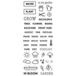 Hero Arts - Kelly Purkey Collection - Clear Photopolymer Stamps - Garden Planner