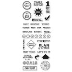 Hero Arts - Kelly Purkey Collection - Clear Acrylic Stamps - Goal Planner