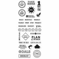 Hero Arts - Kelly Purkey Collection - Clear Photopolymer Stamps - Goal Planner